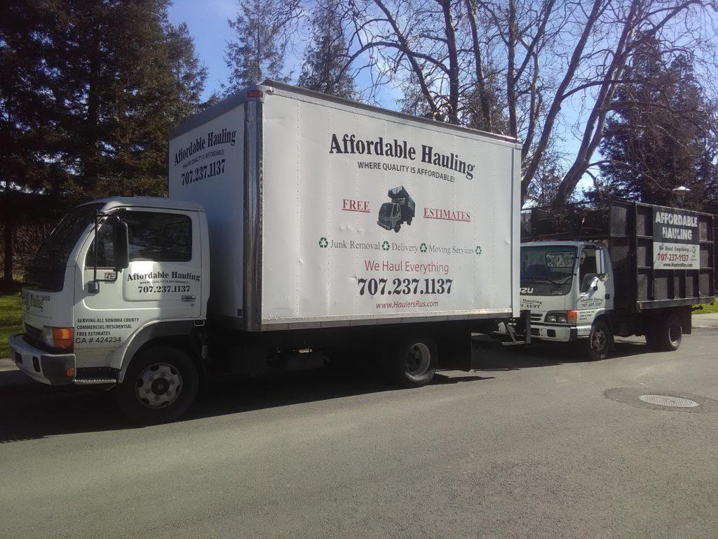 Affordable Hauling | #1 Junk Removal Santa Rosa